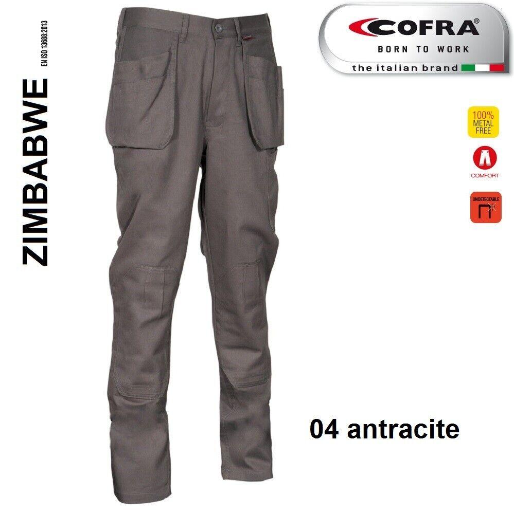 Immagine 9 - Pantaloni da lavoro COFRA modello ZIMBABWE 100% cotone 270 g/m² con ginocchiere