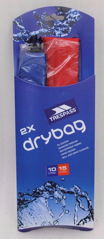 Trespass Euphoria Euphoria Euphoria 2 Piezas Set Drybag 10 y 15 Litros 402084 Nuevo 120c59