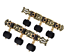 thumbnail 1 - Alice AO-020HV3P 1Pair Classical Guitar Tuning Key Gold /Black Plated Tuner Pegs