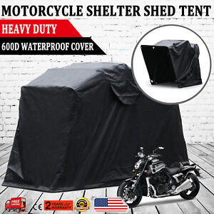 Image is loading The-Bike-Shield-Motorcycle-Shelter-Storage-Cover-Tent- & The Bike Shield Motorcycle Shelter Storage Cover Tent Garage ...