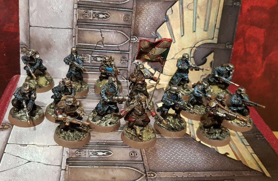 Death Korps de Krieg infantería disparo  comando escuadrón Pintado Pack Warhammer 40k