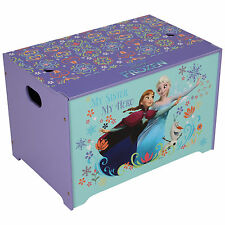 DISNEY FROZEN TOY BOX WOODEN TOY CHEST BEDROOM FURNITURE STORAGE NEW OFFICIAL