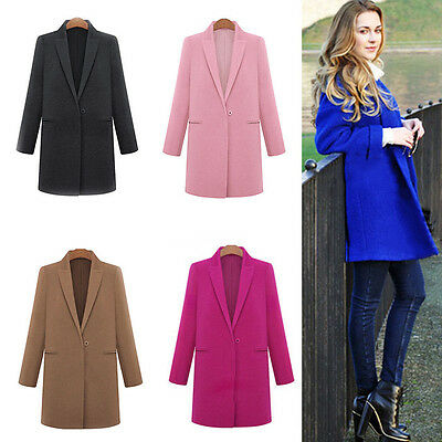 Fashion Women's Wool Cashmere Long Winter Parka Coat Trench Outwear Jacket warm