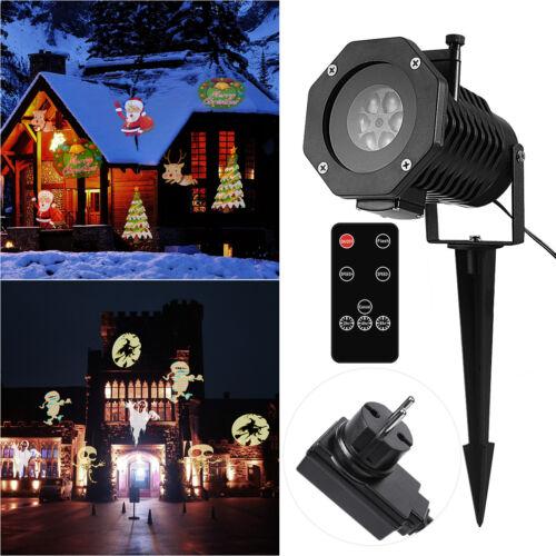 15 Muster LED Laser Projektor Lampe Lichteffekt Strahler Weihnachten Außen Deko