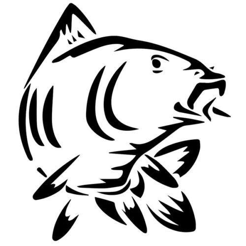 10x9 cm à 33x30 cm Sticker Décoration Pêche Poisson Carpe
