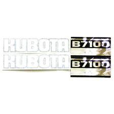 Hood Decal Set Fits Kubota B7100 Models Mae30 0075 S23098 S23098