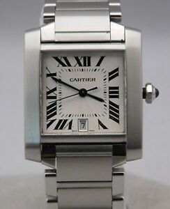Cartier-Tank-Francaise-2302-W51002Q3-Largest-Size-Automatic-SS-Mens-Watch-28mm