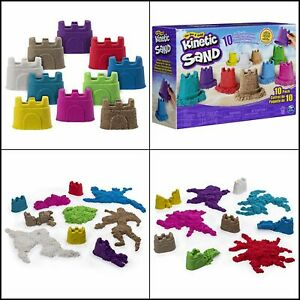 Kinetic Sand Castle Containers 10-Color Pack for Kids Aged 3 /& Up