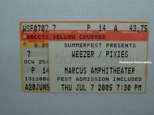 WEEZER-PIXIES-Concert-Ticket-MILWAUKEE-2005-Marcus-Amphitheater-VERY-RARE