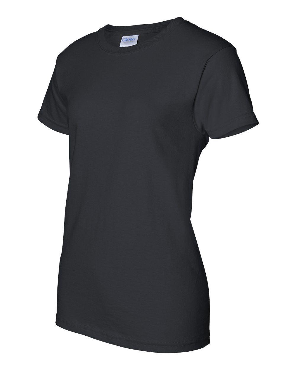 50 Gildan Ladies Ultra Cotton schwarz T-Shirt 2000L Bulk Lot ok to mix Größes XS-XL