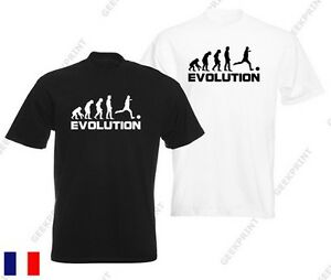 T Shirt Evolution Foot Football Om Ballons Paris Psg Maillot Humour