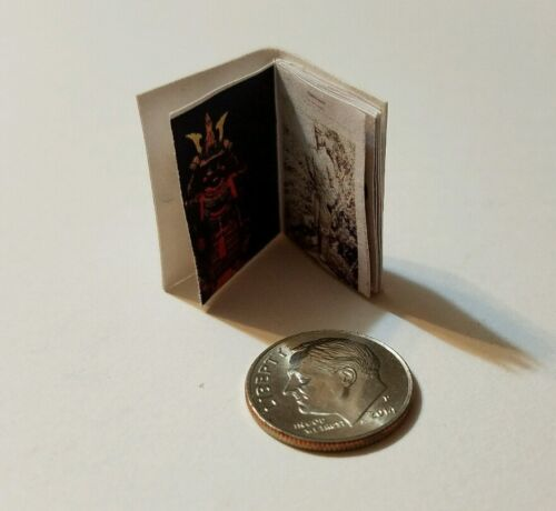 Miniature Dollhouse Book Barbie  Book 1//12 Scale Japanese Warrior Art of War