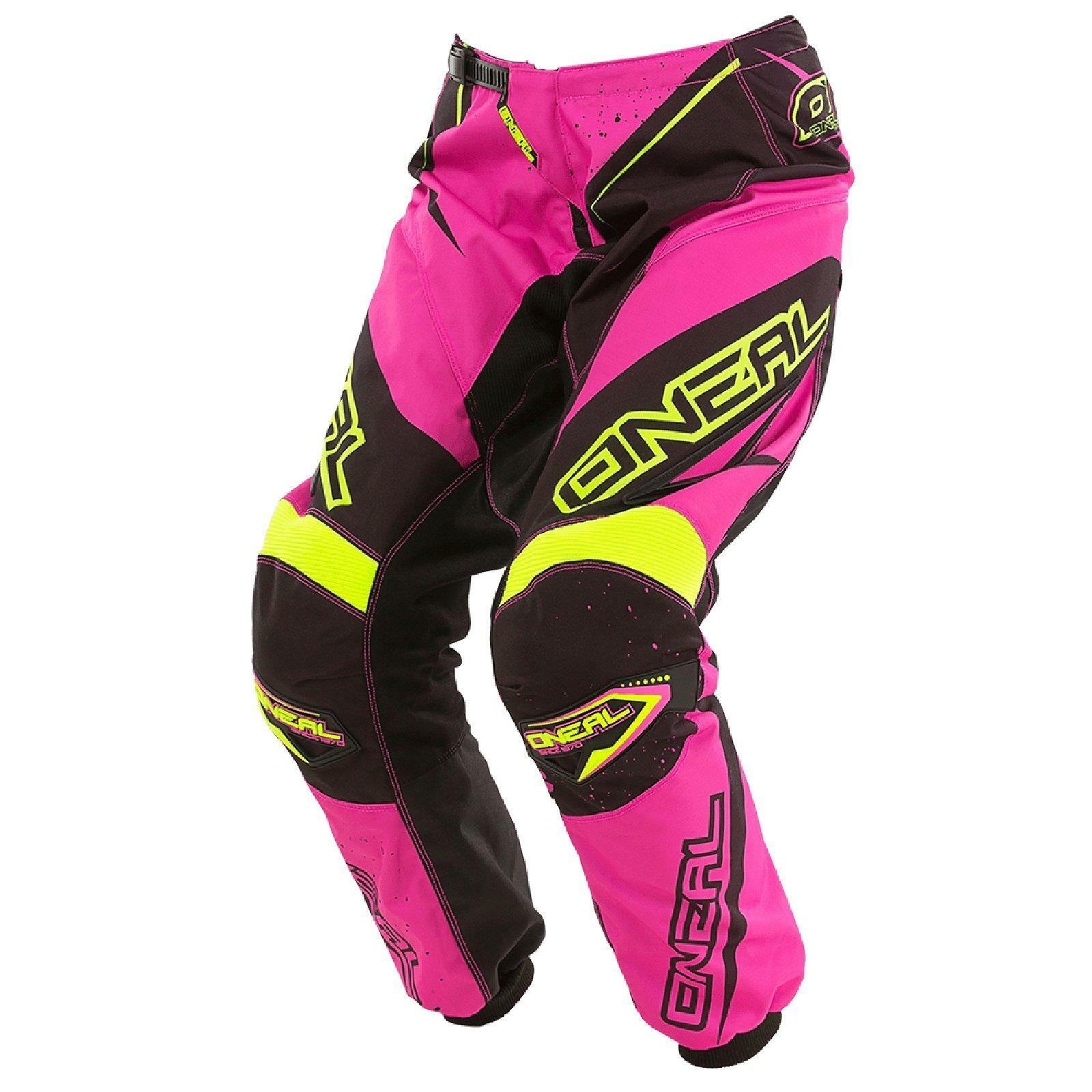 ONeal Element MX DAMEN Hose Racewear Damens Rosa Moto Cross Enduro Mountainbike