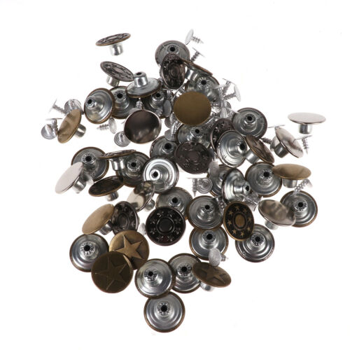 50PCS Metal Clothes Instant Suspender Button Buckle With Nail Repair Replacement