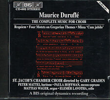 CD album: Maurice Duruflé: St. Jacob' s Chamber Choir. Gary Graden. BIS. J