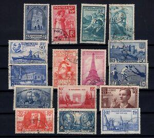 K139674-FRANCE-YEARS-1938-1939-USED-SEMI-MODERN-LOT-CV-135