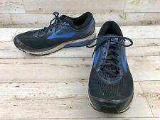 a12cff6fd2cf8 Brooks Ghost 10 Blue Trail Running Shoes Mens Size 12 Black Athletic 2E  Sneakers
