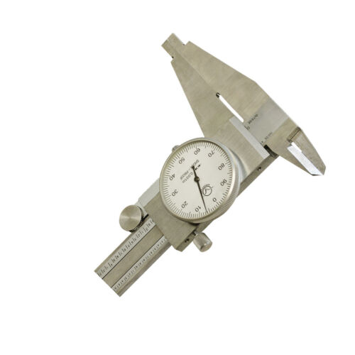 8 Inch Hardened Stainless Steel Vernier Caliper Upper Jaw .001 Inch Graduation