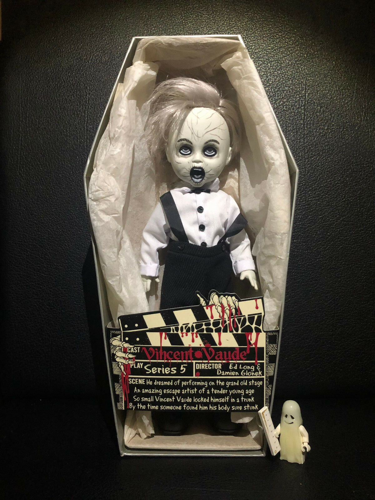 Living Dead Dolls Vincent Vaude MEZCO Serie Serie Serie 5 schwarz & Weiß (Neu) OVP MIB Puppe cd58a8
