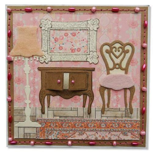Marianne Design Clear Stamps Eline/'s Doll House EC0143