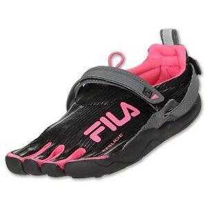 4b50c11d83 Youth Girls Fila Skele-toes 2.0 Water Sneakers New, Black Pink Skele ...
