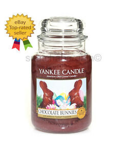 YANKEE-CANDLE-CHOCOLATE-BUNNIES-RARE-SPECIAL-LIMITED-COLLECTOR-039-S-EDITION-623g