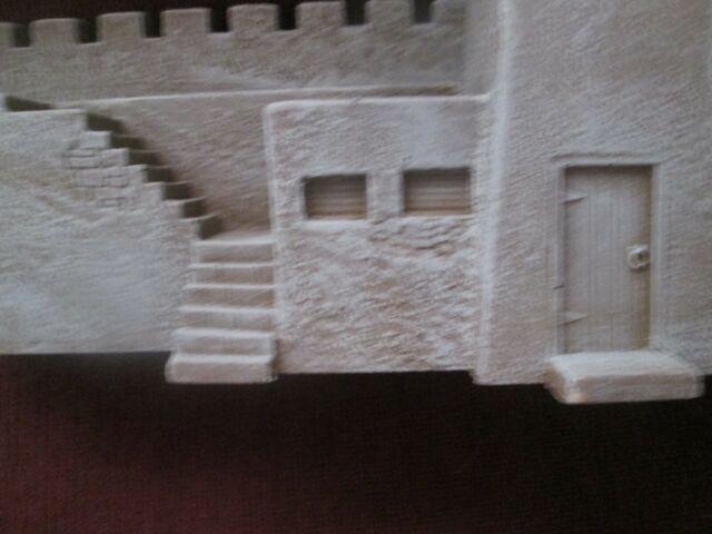 Fort building Alamo/Desert/Civil War'*gos*w/Marx~Barzso~Conte TSSD*54mm**60mm