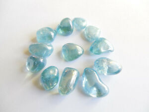12pc-TUMBLED-AQUA-AURA-QUARTZ-CRYSTALS-45-27g-BRAZIL15-25mm-ORGONE-GOLD-11