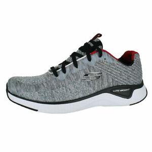 Dettagli su Men's Skechers Solar FUSIBILE kryzik Grigio Nero 52758 GYBK Athletic Shoes mostra il titolo originale