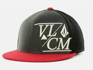 bdd81145b4f Volcom Stone Modern 210 Fitted Flex Fit Black Red Wool Blend Hat Cap ...