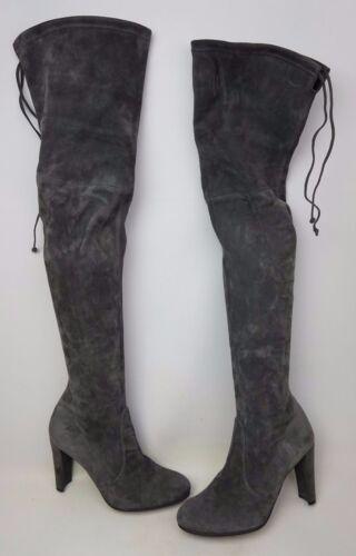 9 Suede Grey Størrelse Over Weitzman M Stuart Slate Støvler Knee Highland waYfqxz1