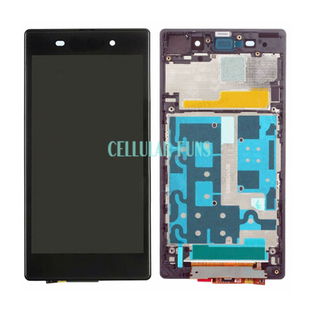 OEM LCD Display Touch Screen Digitizer For Sony XPERIA Z1 L39h Frame Purple