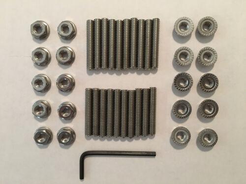 """Mopar 426 Hemi Stainless Steel Valve Cover Stud Kit and Wrench 1.25/"""" Long"""