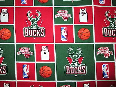 BUCKS MILWAUKEE NBA LICENSED QUILTING COTTON FABRIC FQ | eBay