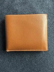 PRE-OWNED-AUTHENTIC-HERMES-Men-039-s-Classic-Marron-Epsom-MC2-Copernic-Bifold-FRANCE