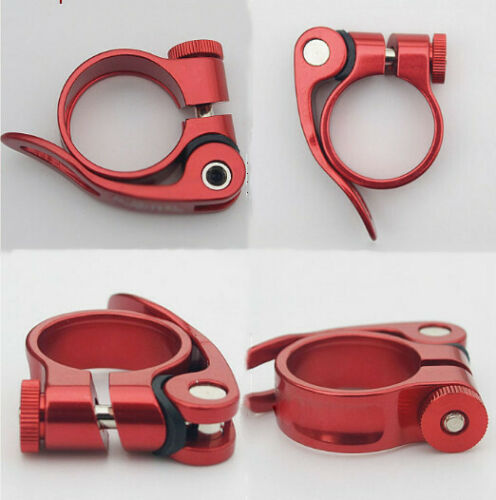 Bicycle 31.8mm 34.9 27.2 clamp Bike Seat Post Seatpost MTB Collar Quick Release