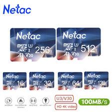 Netac MICRO SD CARD 32GB 64GB 128GB 256GB 100mb/s Memory Card for Phones lot