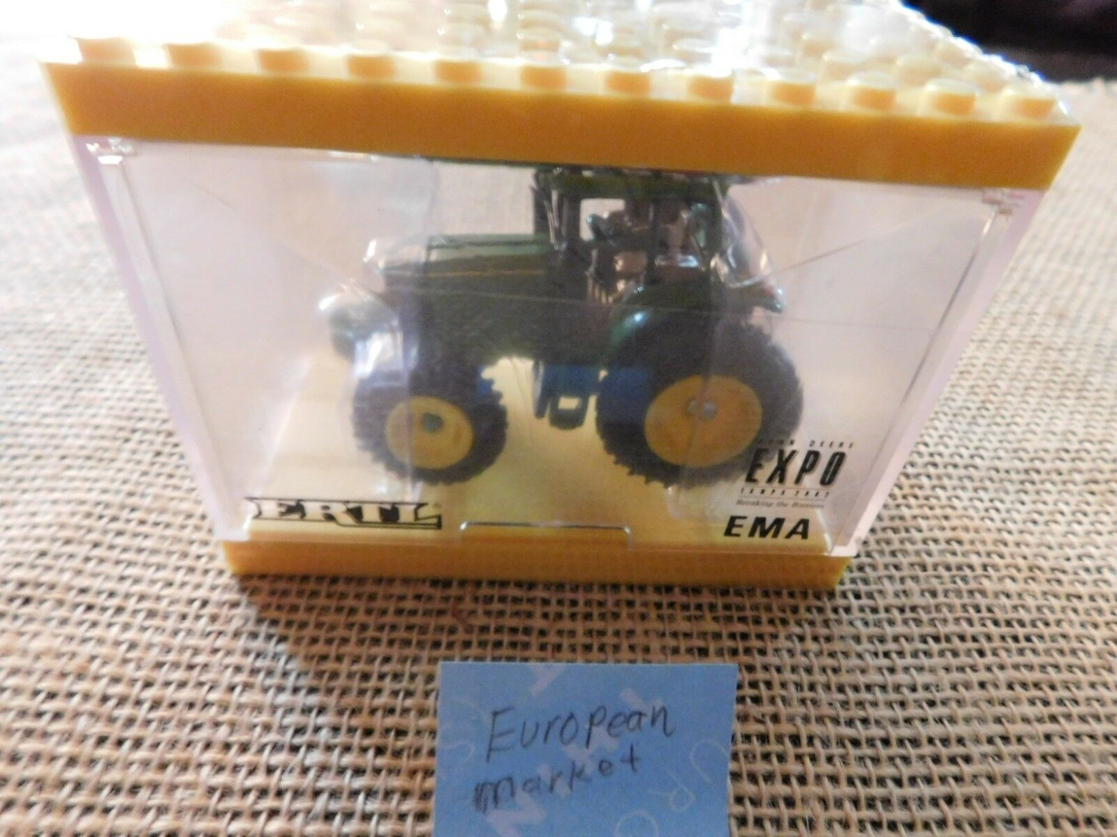 John Deere RARE 6320 tractor in a Lego Display case EMA Expo Tampa 2002