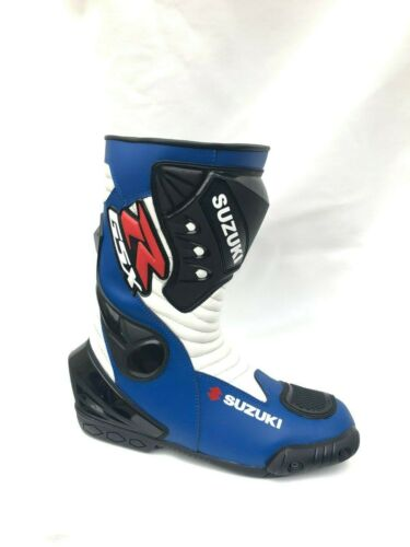 Motorcycle Boots Riding Leather Shoes Suzuki Men/'s Motorbike Racing Shoes