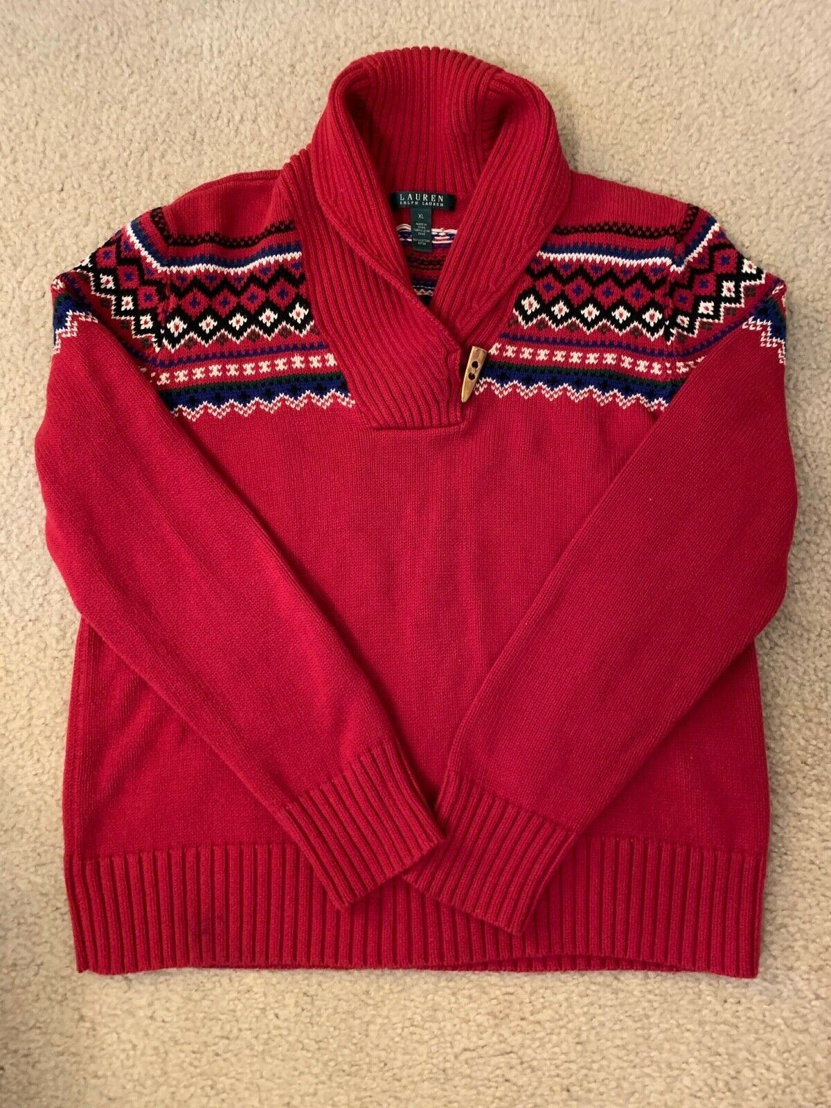 Lauren Ralph Lauren Classic Red Sweater - image 1
