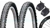 2 Bicycle Tyres Bike Tires - Mountain Bike - 26 x 1.95 VC-5030 - Schrader Tubes