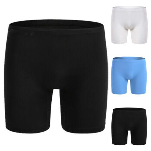 Mens Long Leg Boxer Briefs Breathable Sporting Ice Silk Underwear Underpants Hot