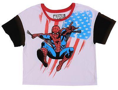 Marvel Comics Original White Spider-man Tee Size M Short Women's Lady's T-Shirt