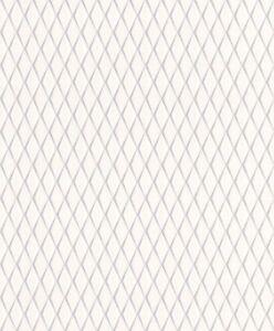 Rasch Tapete Cato 800760 losange losange graphique gris argent ...