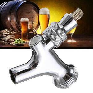 Chrome-Draft-Beer-Brass-Faucet-Tap-For-Kegerator-Standard-Keg-Shank-Home-Brew