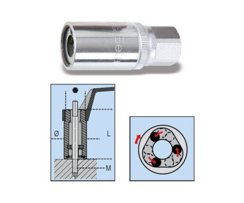 "Beta Tools 1433 Roller Stud Extractor 1//2/"" Sq Dr M8014330008"