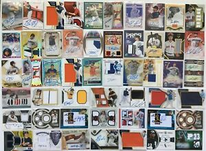 Autograph-Jersey-Relic-Baseball-Card-Break-50-Card-Hotpack-3-GUARANTEED-HITS