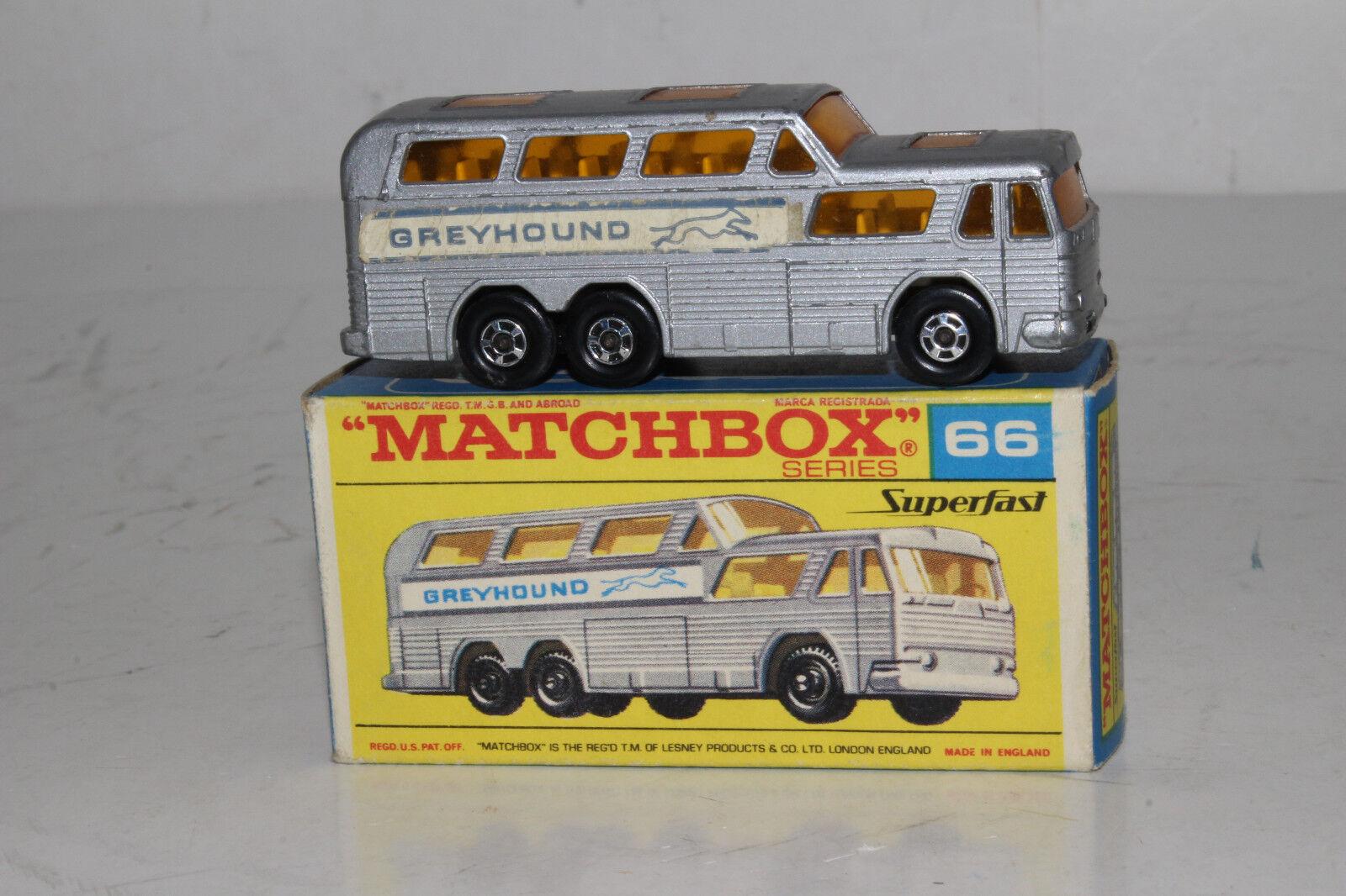 profitto zero Matchscatola Superfast  66 66 66 grigiohound autobus, Eccellente, in Scatola, Lotto A  all'ingrosso economico e di alta qualità