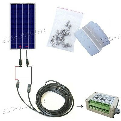 100W 12V Poly Solar Panel W/ Bracket or Controller or Cables, at Your Option!