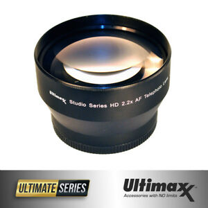 2-2x-Professional-Telephoto-Lens-72mm-by-ULTIMAXX-Brand-New